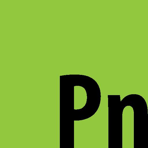 adobe, presenter, square icon