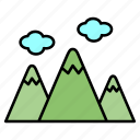 adventure, camping, mountain, picnic, recreation icon
