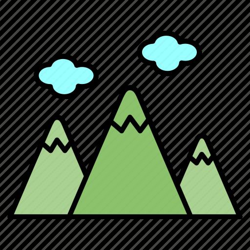 adventure, camping, mountain, picnic, recreation icon