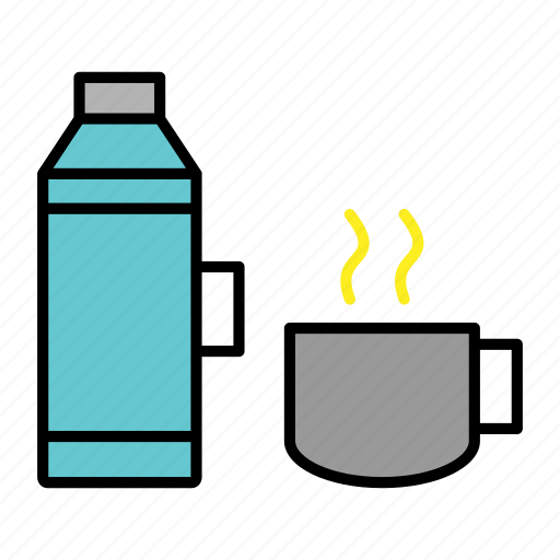 adventure, camping, cup, picnic, thermos, trip icon