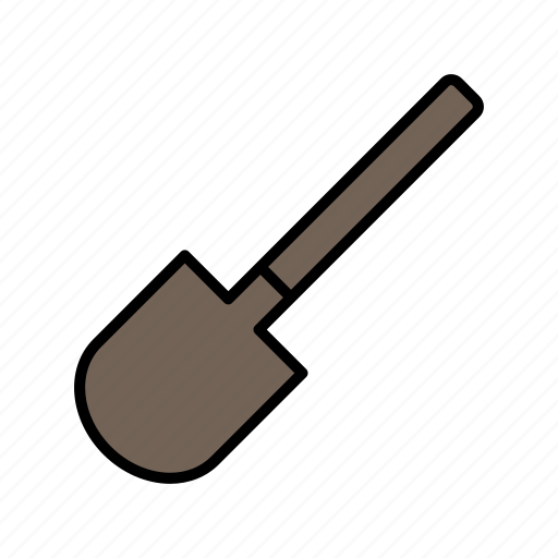 adventure, camping, expedition, shovel, trip icon