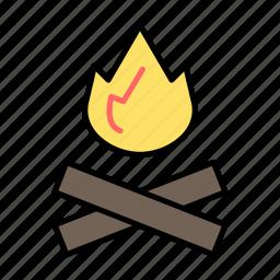 adventure, camping, fire, picnic, trip icon