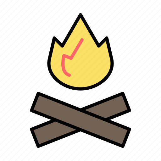adventure, camping, fire, picnic, trip icon