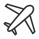 airplane, plane, travel, flight icon