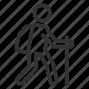 backpacker, backpacking, hike, hiking icon
