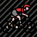 adventure, bicycle, bike, biking, extreme, man, sport icon