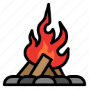 adventure, camp, campfire, forest, nature, outdoor icon