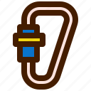 adventure, carabiner, outdoor, travel, trip icon