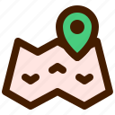 adventure, map, outdoor, travel, trip icon