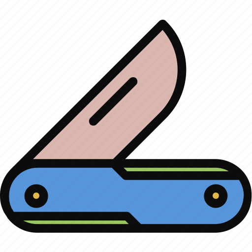 adventure, army, folding, knife, multi icon