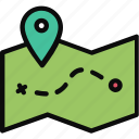 adventure, journey, location, map icon