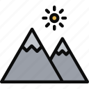 adventure, extreme, mountain, nature, peak icon