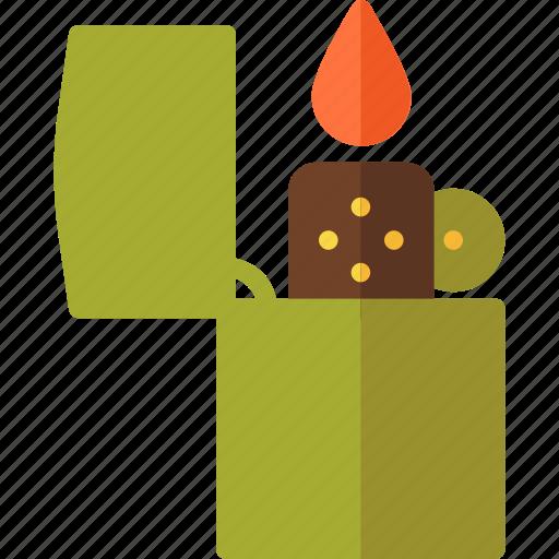 adventure, butane, cigarette, flammable, lighter icon