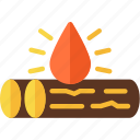 adventure, burn, campfire, heat icon