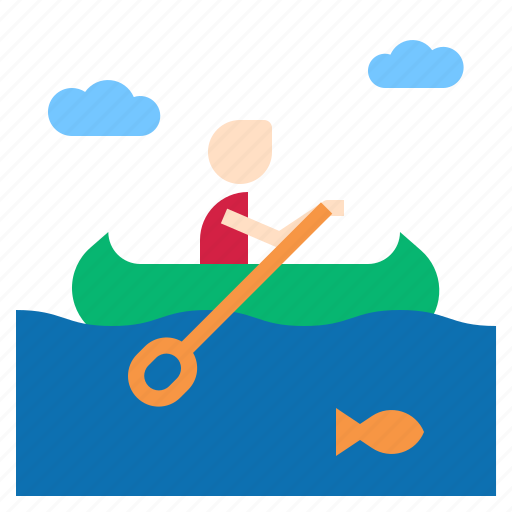 Canoe, rowing icon - Download on Iconfinder on Iconfinder