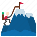 hiking, icepath icon