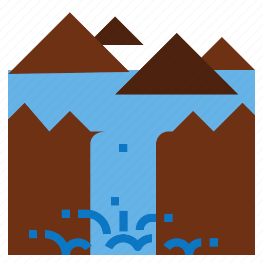 Waterfall icon - Download on Iconfinder on Iconfinder
