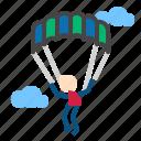 landing, parachute, paragliding icon
