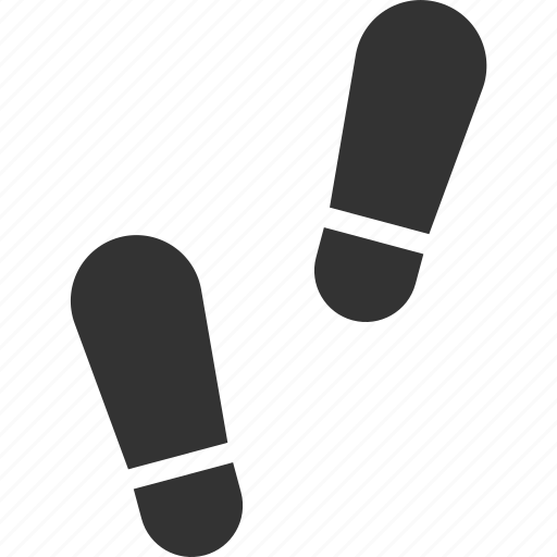 footprint, human, shoes, track icon