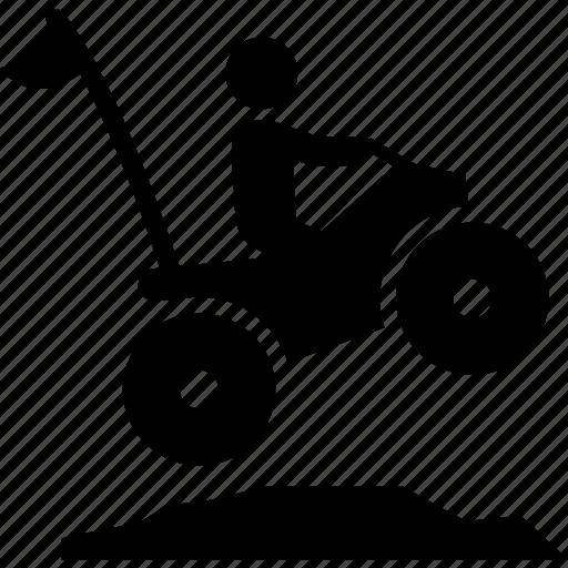 all terrain vehicle, atv, jump, quad, sports, vehicle, wheeler icon