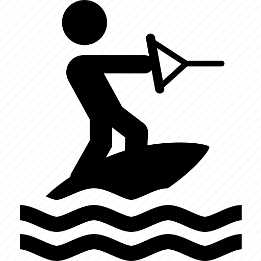 recreation, sports, wakeboard, wakeboarder, water, waterski, waterskier icon