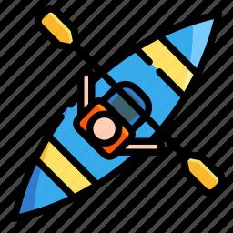 activities, adventure, extreme, kayak, outdoor, rowing, sport icon