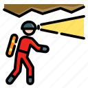 activities, adventure, caving, extreme, outdoor, sport, survey icon