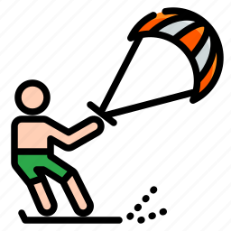 activities, adventure, extreme, kite, outdoor, sport, surfing icon