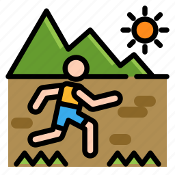 activities, adventure, extreme, outdoor, running, sport, trail icon