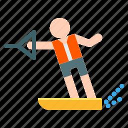 activities, adventure, extreme, outdoor, ski, sport, water icon