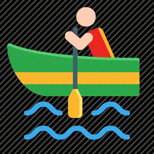 activities, adventure, canoe, extreme, outdoor, rowing, sport icon