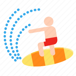 activities, adventure, extreme, outdoor, sport, summer, surfing icon