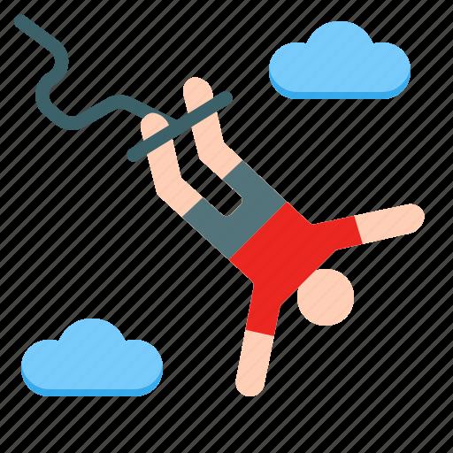 activities, adventure, bungee, extreme, jump, outdoor, sport icon
