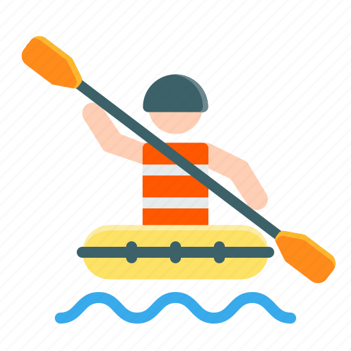 activities, adventure, extreme, outdoor, rafting, river, sport icon