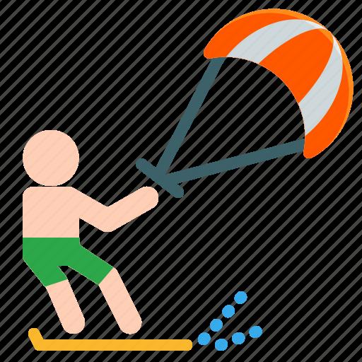 activities, adventure, extreme, kite, outdoor, sport, surfing icon