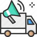 advertisement, advertising, announcement, marketing van
