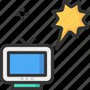 marketing, promotion, tv ad, tv advertisement icon