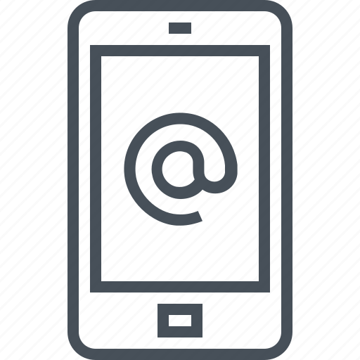 cell phone, email, inbox, mail, mobile phone icon