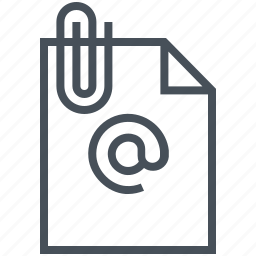 attachment, email, mail, message, paper, text icon
