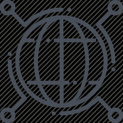 data, distribute, distribution, network icon