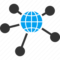 communication, global connections, globe, international business, seo, social relations, web links icon