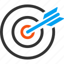 aim, bullseye, center, goal, marketing, point, target icon