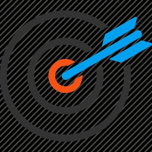 aim, bullseye, center, goal, marketing, point, target icon