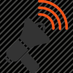 ads, announce, announcement, communication, loudspeaker, megaphone, speaker icon