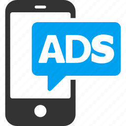 ad, advertisement, advertising, marketing, mobile ads, promotion, smartphone icon