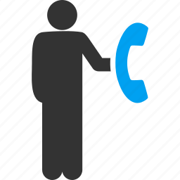 cold call, communication, connection, denial, marketing, phone, tele marketing icon