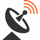 broadcast, communication, internet service, radio telescope, signal, space antenna, wireless connection icon