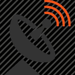 broadcast, communication, internet service, radio telescope, signal, space antenna, wireless connection icon