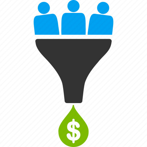 business, customer filter, customers, financial effect, income, sale, sales funnel icon