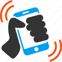 call, communication, connection, phone, ring, smartphone, telephone icon